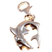 Great White Shark Sterling Silver Clip On Charm - With Clasp